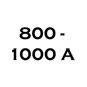 800 A és 1000 A között