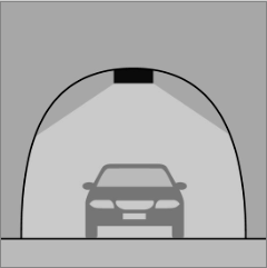 Tunnels and vandal safety lamps